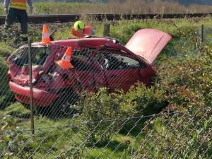 Auto bylo po nárazu zcela zdemolované