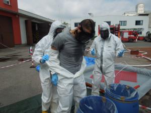 Cvičení s biohazard týmem